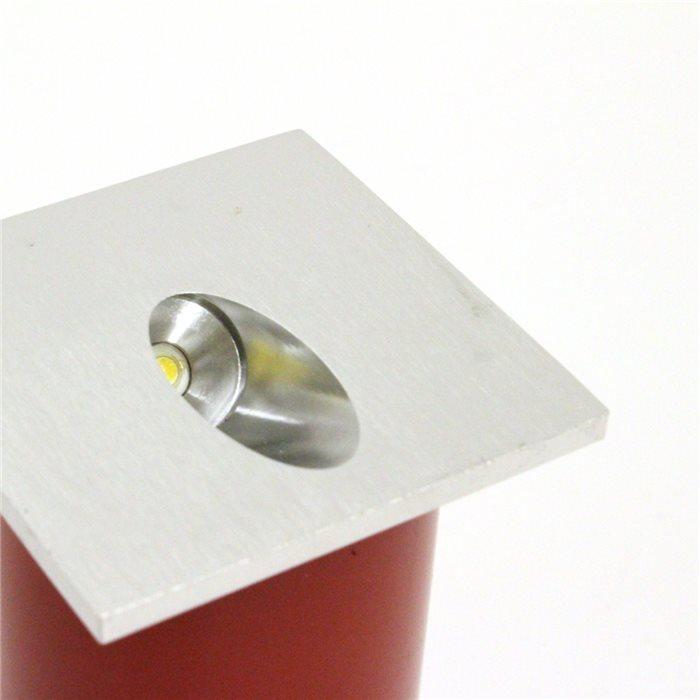 lampenlux high power led aussenleuchte einbaustrahler ip54 reika spot rund eckig aluminium. Black Bedroom Furniture Sets. Home Design Ideas