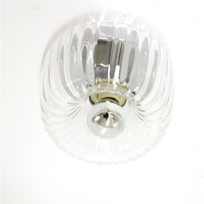 Lampenlux Wandlampe Andy Badleuchte Effektlampe Glas Rund Indirektlicht Transparent Gelb