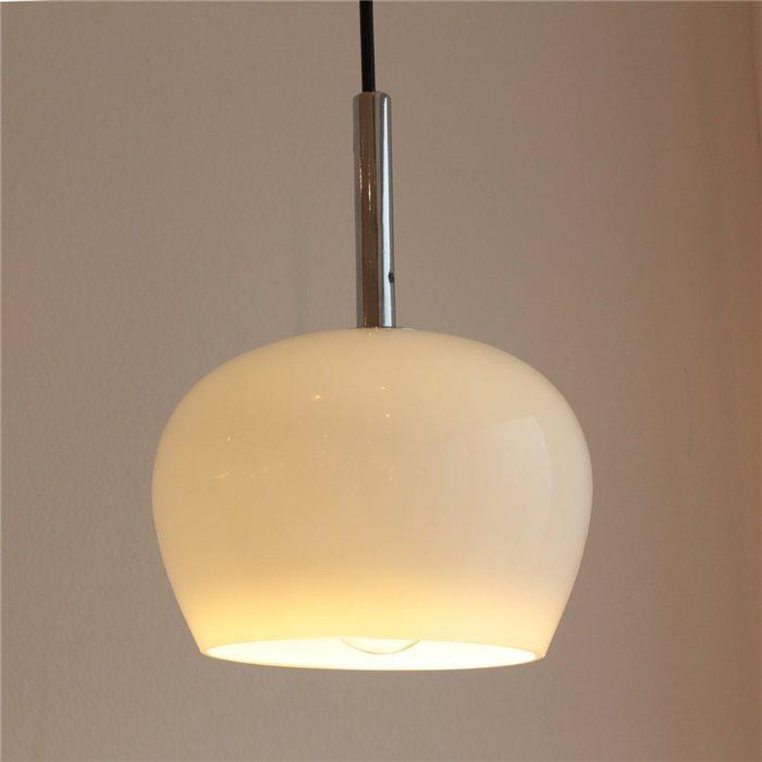 Lampenlux LED Pendelleuchte Bojan Hängeleuchte Glas Weiß Gelb Wabenlampe Höhenverstellbar