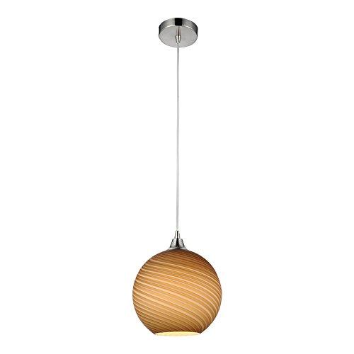 Lampenlux LED Pendelleuchte Bonito Hängeleuchte Glas Kaffee Braun Weiß Höhenverstellbar