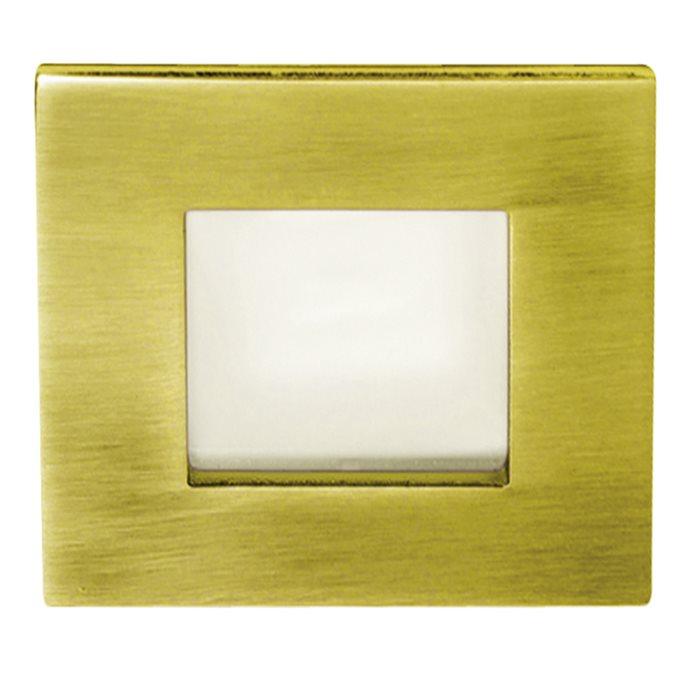 Lampenlux Einbaustrahler Spot Shaky eckig Milchglas 7.3x7.3cm Aluminium rostfrei G4