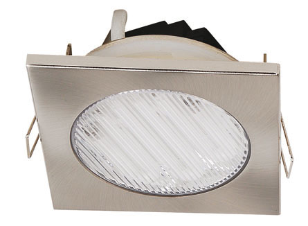 Lampenlux LED Einbaustrahler Raija IP44 Aussenleuchte Eckig Fassung GX53 10cm Spot Down Aluminium