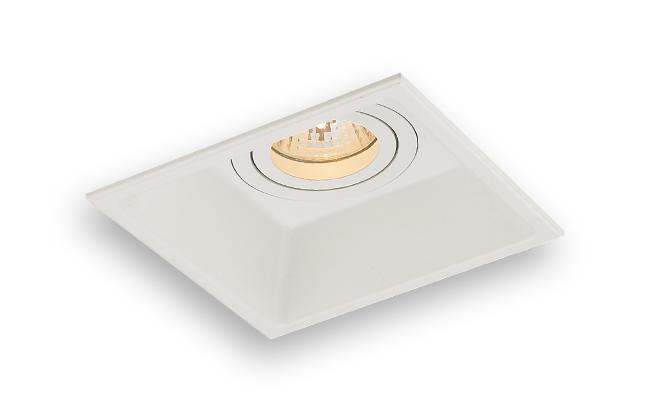 Lampenlux LED-Einbaustrahler Spot Sabo eckig weiß dreh- und schwenkbar 13.0 x 13.0 cm Einbauleuchte Einbaulampe Einbauspot Spot Strahler Punktstrahler Aluminium Downlight Down Deckeneinbaustrahler Deckeneinbauleuchte