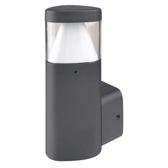 Lampenlux LED Außenleuchte Kalina Wandlampe Wandleuchte Fackel Schwarz Alu IP54