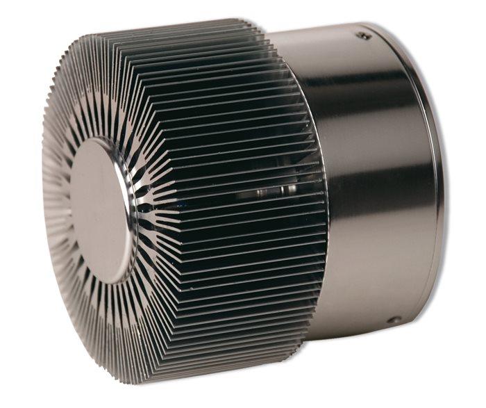 Lampenlux LED Außenwandleuchte Agor Fächer Aluminium gebürstet Wandlampe IP44 Effektlampe Außenlampe Außenleuchte