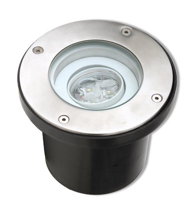 Lampenlux LED Bodeneinbaustrahler Sotam 230V Außenleuchte Schwenkbar TW Ø14.5cm