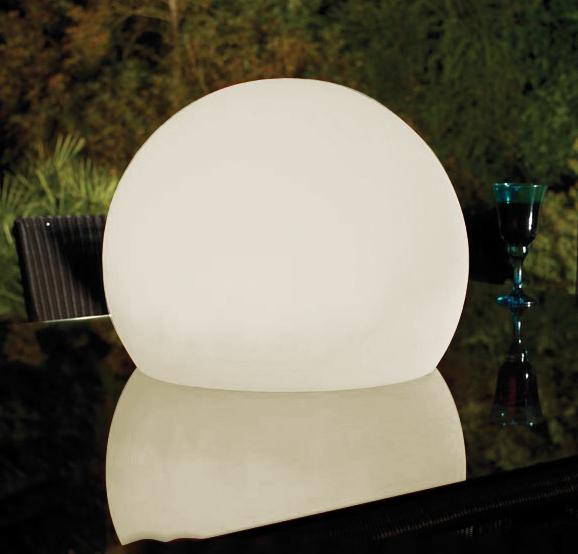 Lampenlux LED Aussenleuchte Kimbo Kugellampe Weiß Gartenlampe Ø60cm IP65 230V