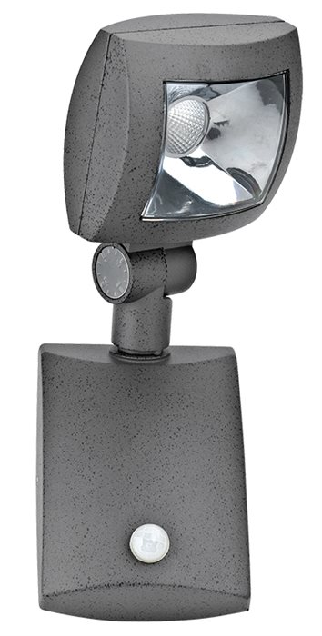 Lampenlux LED Außen Wand Lampe Leuchte Icco Sensor Grau Schwenkbar Alu Garten Weg Strahler