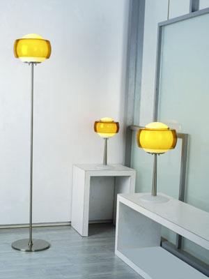 Lampenlux Tischleuchte Tischlampe Tischlicht Stehlampe modern Steny 230V E27 Opal Amber Ø 29