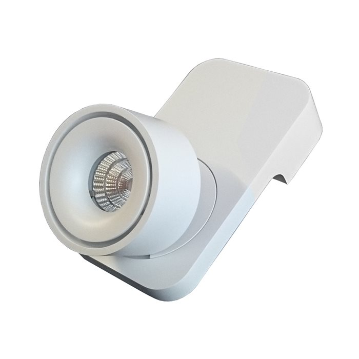 Lampenlux LED Wandlampe Jimmy Weiß Aufbaustrahler drehbar schwenkbar Bilderlampe Spot Wandleuchte