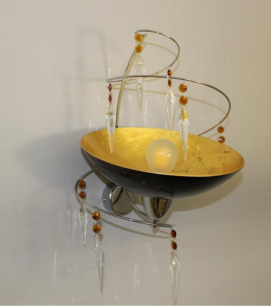 Lampenlux Designer Wandleuchte Wandlampe Zoe Kristall Modern