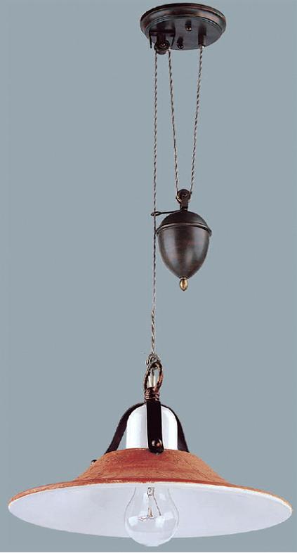 Lampenlux Hängelampe Hängeleuchte Anticus Keramikschirm braun E27 60W 230V