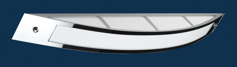 Lampenlux Wandlampe Trampan Wandleuchte 230V Chrom Badleuchte mit Opalglas 2G11