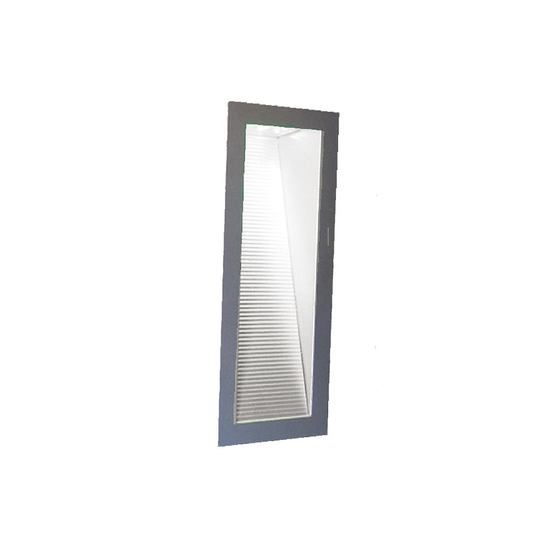 Lampenlux Wandeinbaustrahlerbox Senada grau/weiß 7.2 cm Einbautiefe max. 35W