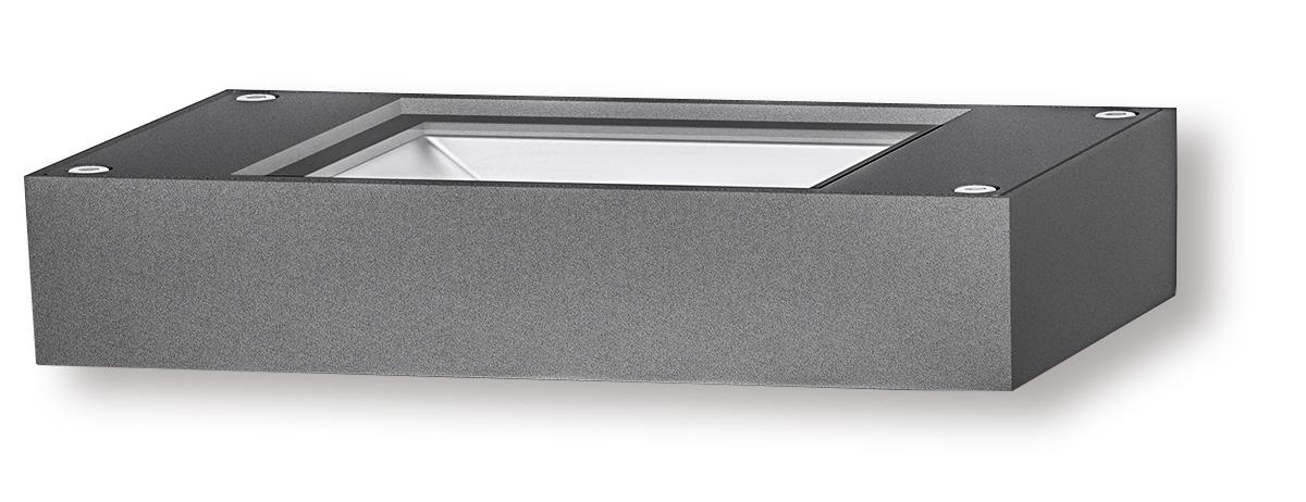 Lampenlux Außenleuchte Stina Aluminium Schwarz 3500lm 30W LED 3000K IP54
