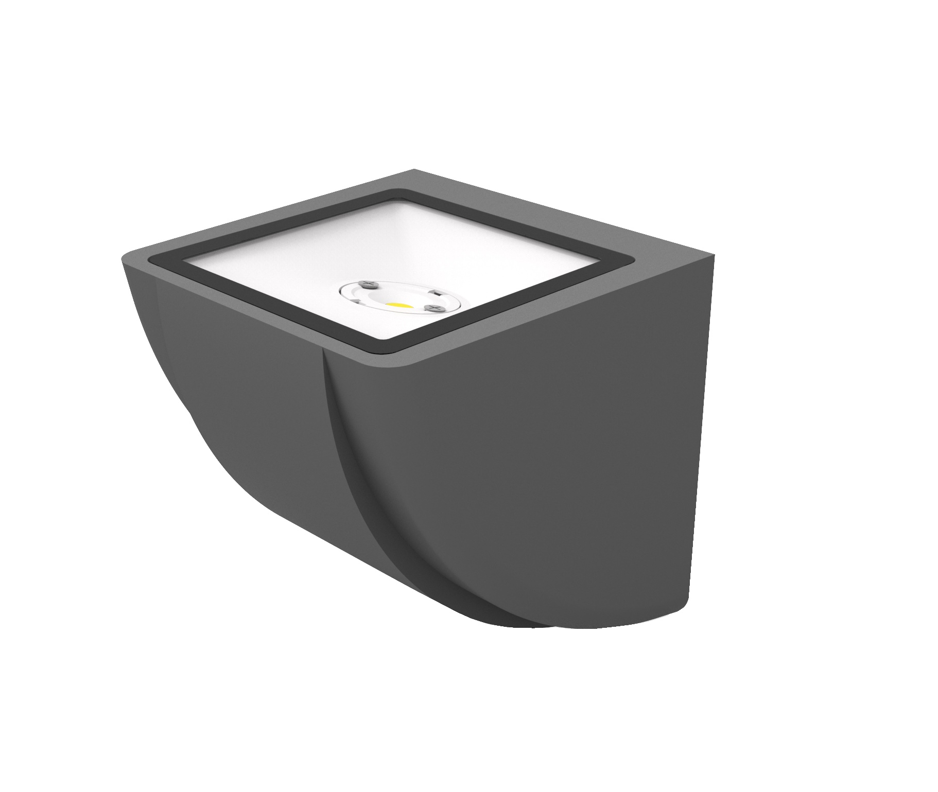 Lampenlux Außenleuchte Julio Aluminium Schwarz 580lm 7,5W LED 3000K IP65