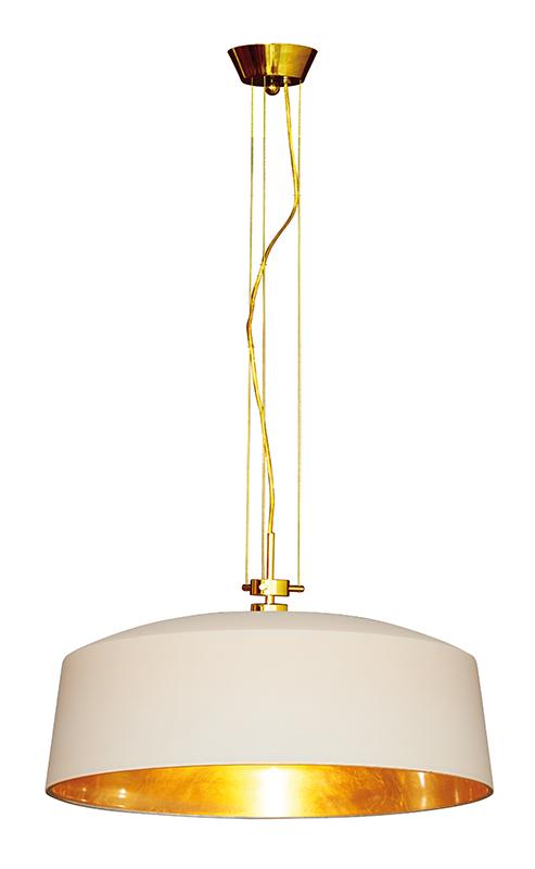 Lampenlux Hängeleuchte Auro Deckenlampe 40W Pendellampe 230 V Pendelleuchte mit Blattgold
