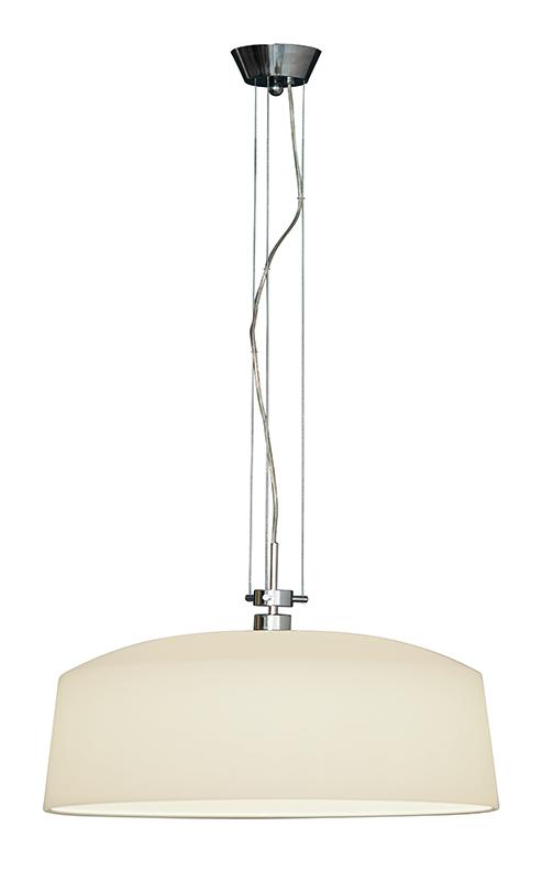 Lampenlux Hängeleuchte Bianca Deckenlampe 40W Pendellampe 230 V Pendelleuchte weiß satiniert