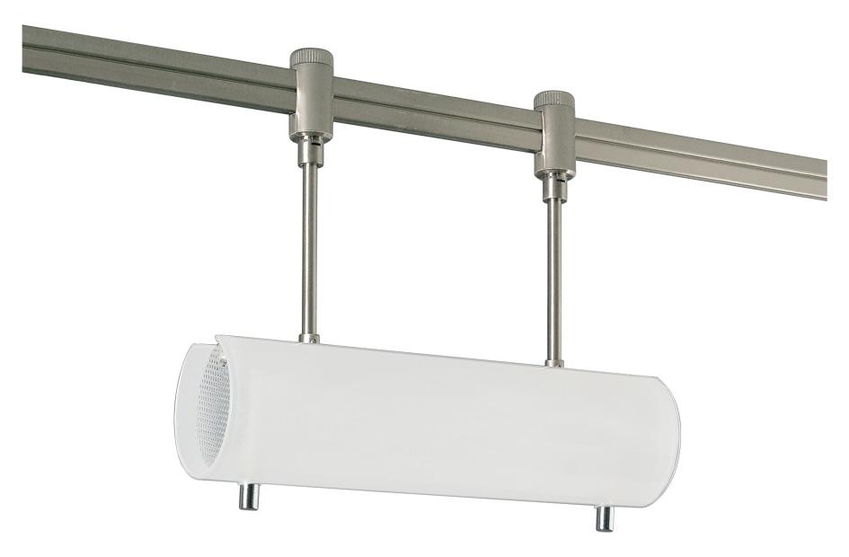 Lampenlux Spot Spino Schienenstrahler R7s nickel satiniert 230V 100W Glas weiß geeignet für Schienensystem Spino