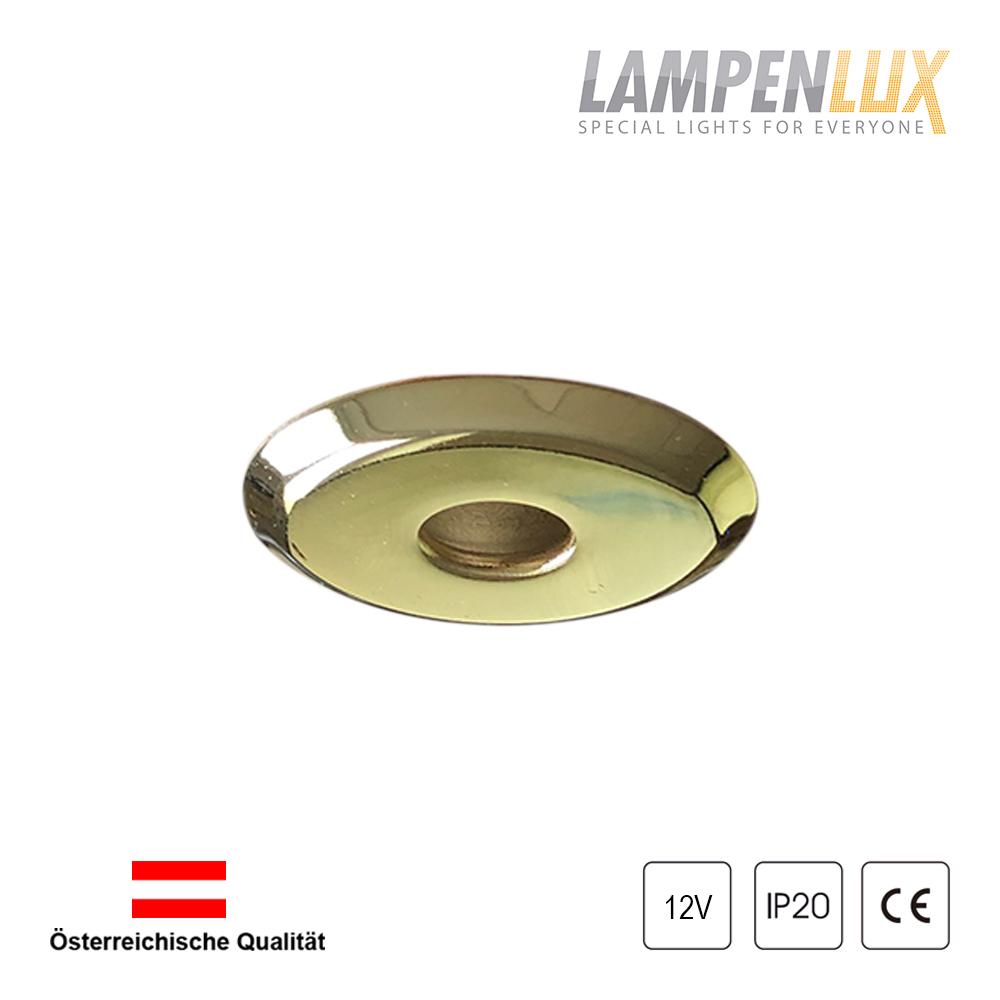 Lampenlux Einbaustrahler Elise Ø 4 cm Gold 12V 20W G4