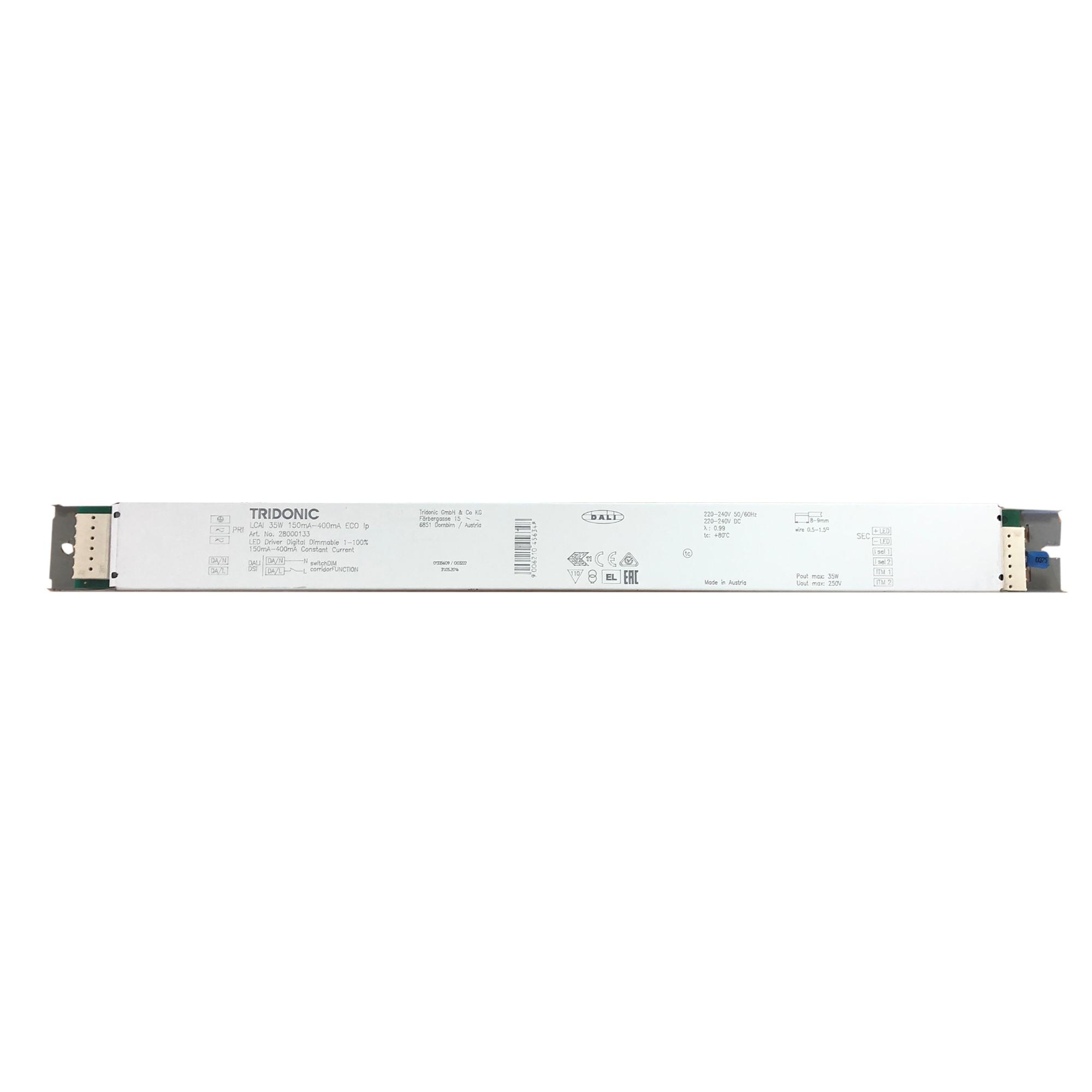 Tridonic LCAI 35W 150mA-400mA ECO LED Trafo