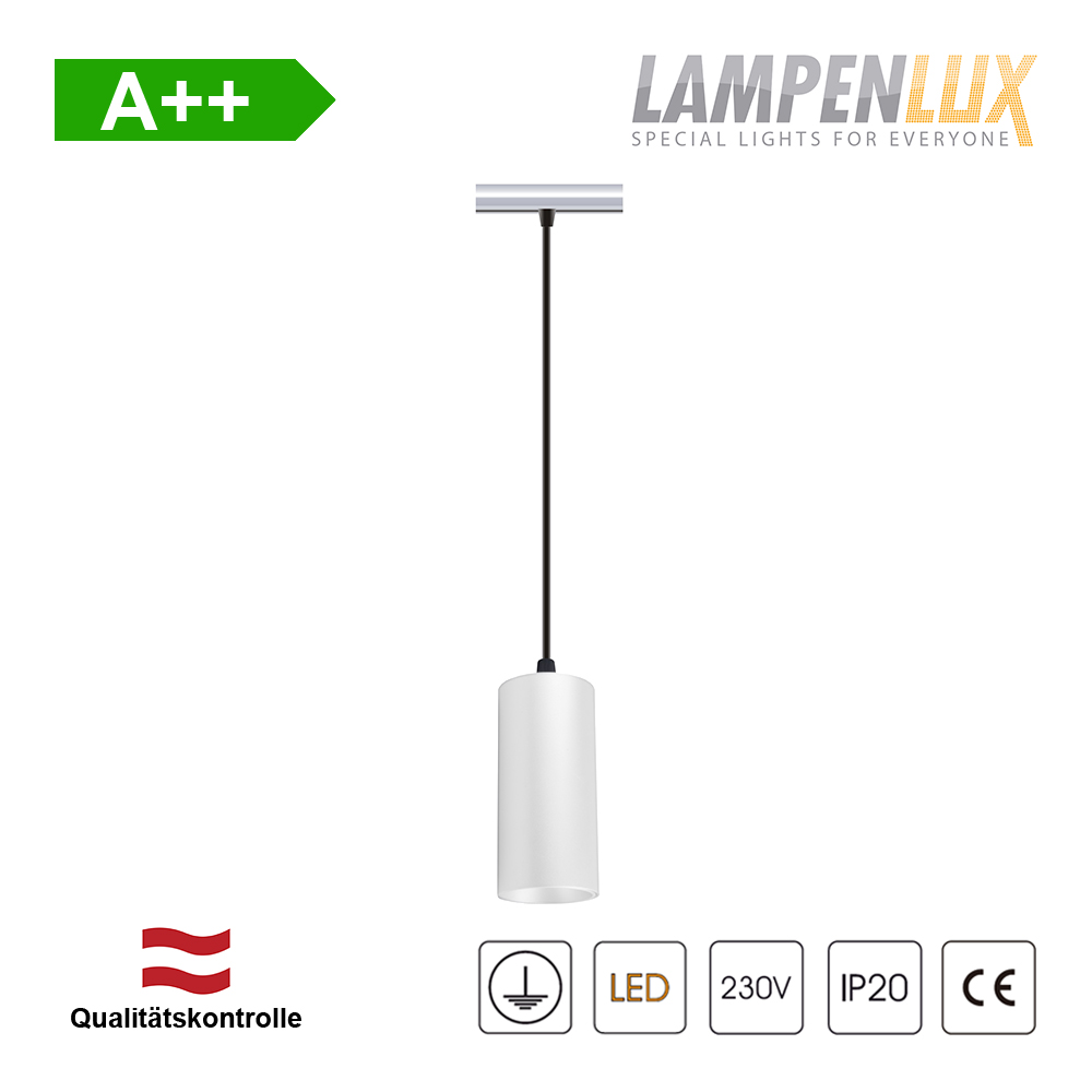 Lampenlux Hängeleuchte Nina passend für 1-Phasen Schienensystem Deckenlampe 150cm GU10