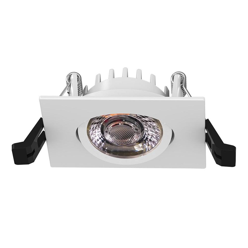 Lampenlux LED schwenkbarer Einbaustrahler Kasim eckiger flacher LED Spot 34mm Tiefe 6,5W 3000K 230V IP44