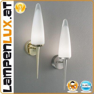 Lampenlux Wandlampe Trampus Wandleuchte Badlampe Fackel 230V Chrom Badleuchte mit Opalglas