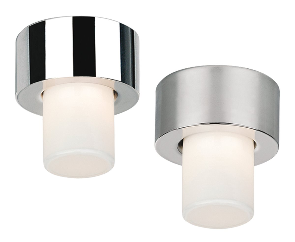Deckenlampe Deckenleuchte Dandy Glasschirm chrom/nickel satiniert G9 Ø:10cm