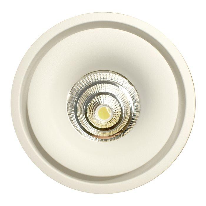 Lampenlux LED-Einbaustrahler Spot Santino weiß 355° drehb. 90° schwenkb. ø10cm inkl. TrafoEinbauleuchte Einbaulampe Einbauspot Spot Strahler Punktstrahler Aluminium Downlight Down Deckeneinbaustrahler Deckeneinbauleuchte