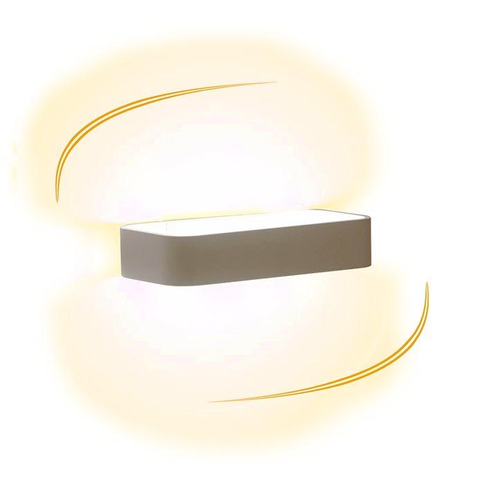Lampenlux LED Aussen Wandlampe Wandleuchte Gallus Up Down Light Eckig Grau 5,4W IP54 Alu