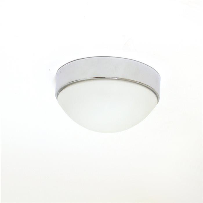 LED Deckenlampe Deckenleuchte Aki Glasschirm Chrom/Nickel Ø 19/24/30cm