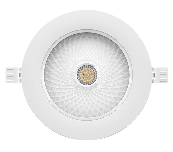 Lampenlux LED-Einbaustrahler Spot Shilow Cameta™ rund weiß dimmbar externer Trafo 230V Einbauleuchte Einbaulampe Einbauspot Spot Strahler Punktstrahler Aluminium Downlight Down Deckeneinbaustrahler Deckeneinbauleuchte