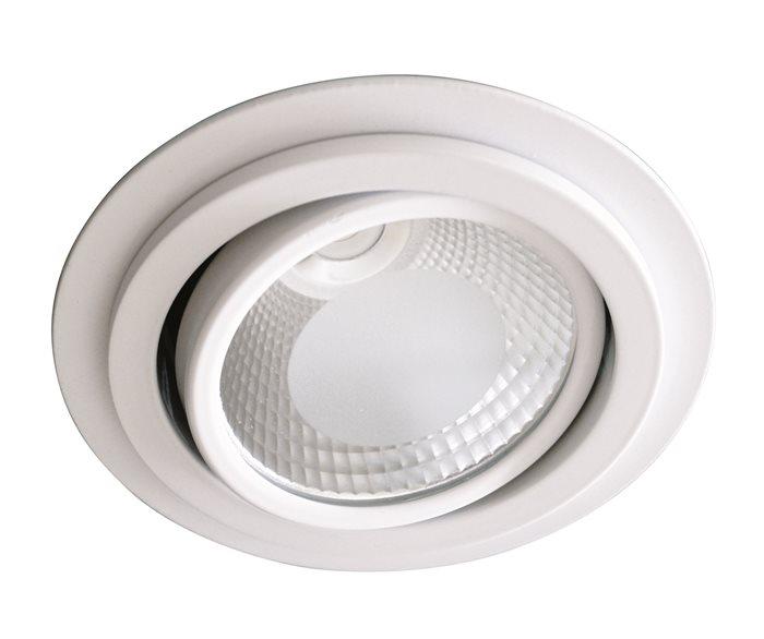 Lampenlux LED Einbaustrahler Rasti Aussenleuchte Rund weiß Schwenkbar Warmweiß Aluminium