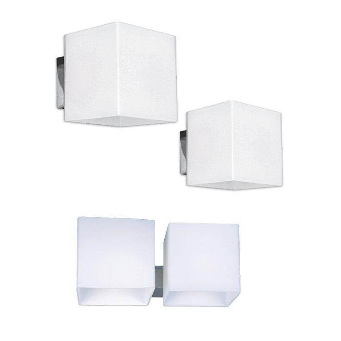 Lampenlux LED Wandlampe Raven Spiegelleuchte Weiß Bilderlampe Badleuchte Eckig