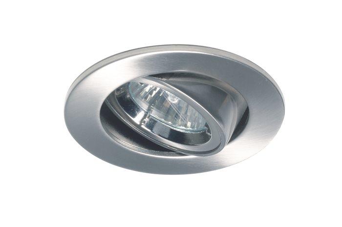 Lampenlux LED-Einbaustrahler Spot Robby chrom /Nickel sat. schwenkbar Ø7.0cm 12V MR11
