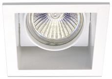 Lampenlux LED-Einbaustrahler Spot Rocky weiß/nickel 30° schwenkbar 12/230V 9x9cm rostfrei