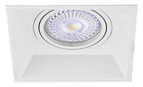 Lampenlux LED-Einbaustrahler Spot Ronda eckig weiß dreh- und schwenkar QR111 Aluminiumguss
