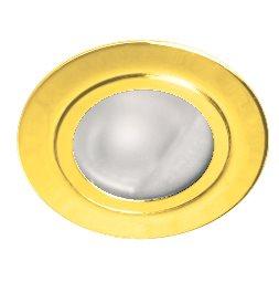 Lampenlux Einbaustrahler Spot Ria rund gold Glas  Ø7.2cm Aluminiumguss 12V G4 rostfreiEinbauleuchte Einbaulampe Einbauspot Spot Strahler Punktstrahler Aluminium Downlight Down Deckeneinbaustrahler Deckeneinbauleuchte