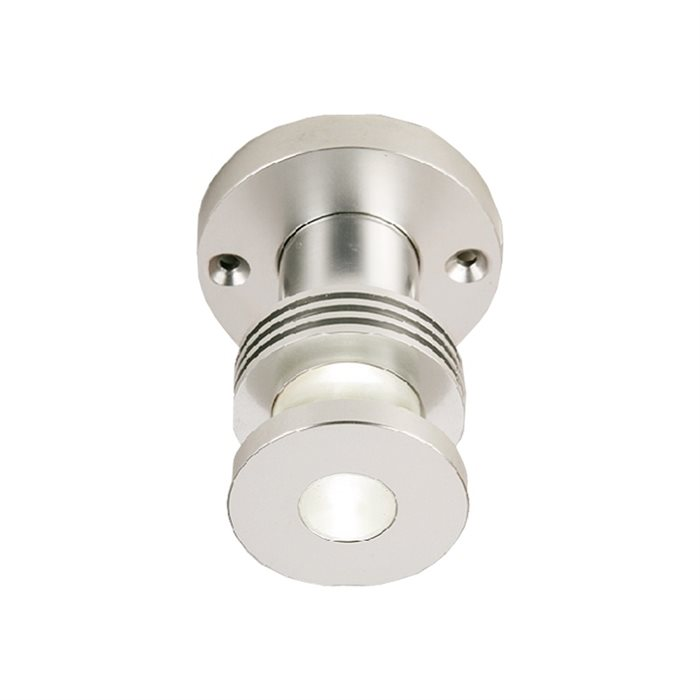 Lampenlux LED Aufbaustrahler Tiba Aussenleuchte Rund Aluminium 230V Deckenlampe