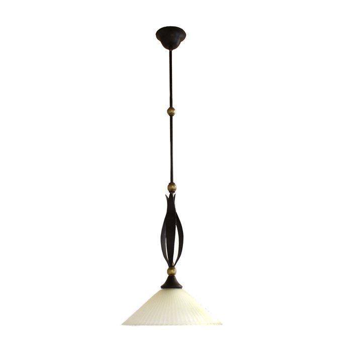 Lampenlux LED Pendelleuchte Zulu Hängeleuchte Landhaus Antik Rustikal Bronze Braun Rost