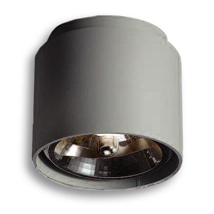 Lampenlux Aufbauleuchte Aufbaulampe Aufbaustrahler Tragus QR111 50W 230V Gusseisen Grau