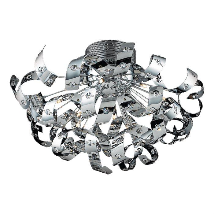 Lampenlux Deckenlampe Deckenleuchte Dina chrom G4 20W Ø:55cm