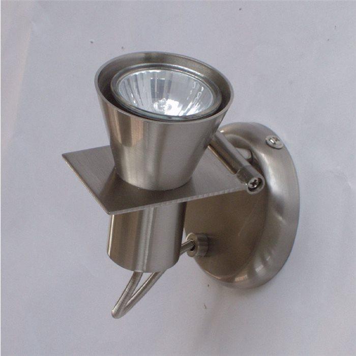 Lampenlux LED Aufbaulampe Wesley Bilderleuchte Nickel drehbar schwenkbar Bilderlampe 230V