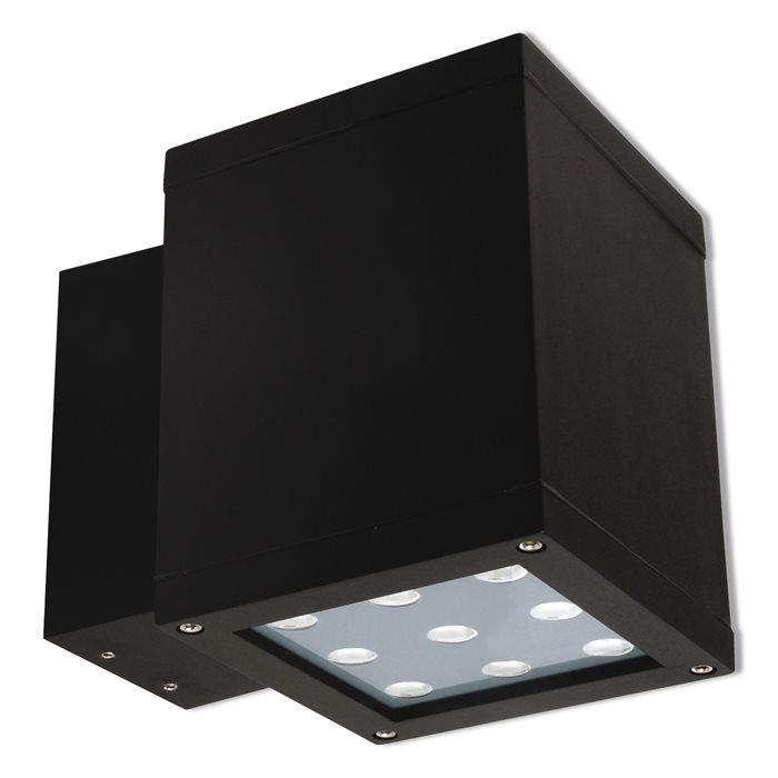Lampenlux LED Aussenleuchte Egos Wandlampe Schwarz Eckig 18W Strahler 230V IP44