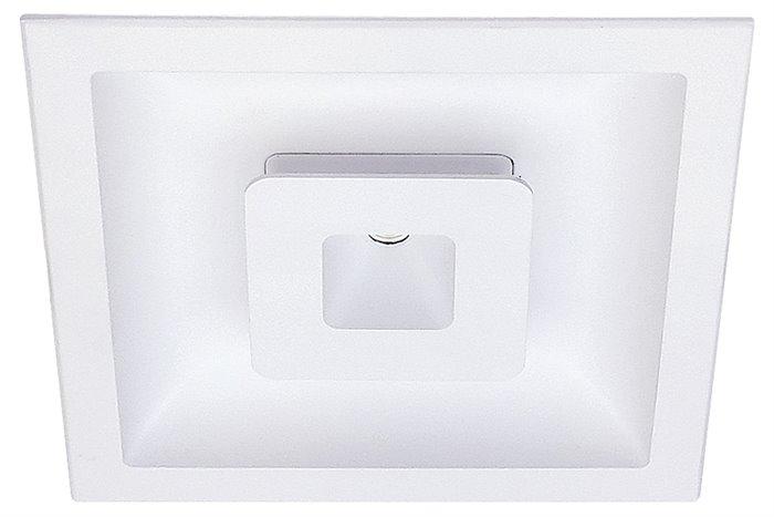 Lampenlux LED-Einbaustrahler Spot Sondor eckig weiß direkt indirekt 12.5x12.5cm Alu TrafoEinbauleuchte Einbaulampe Einbauspot Spot Strahler Punktstrahler Aluminium Downlight Down Deckeneinbaustrahler Deckeneinbauleuchte