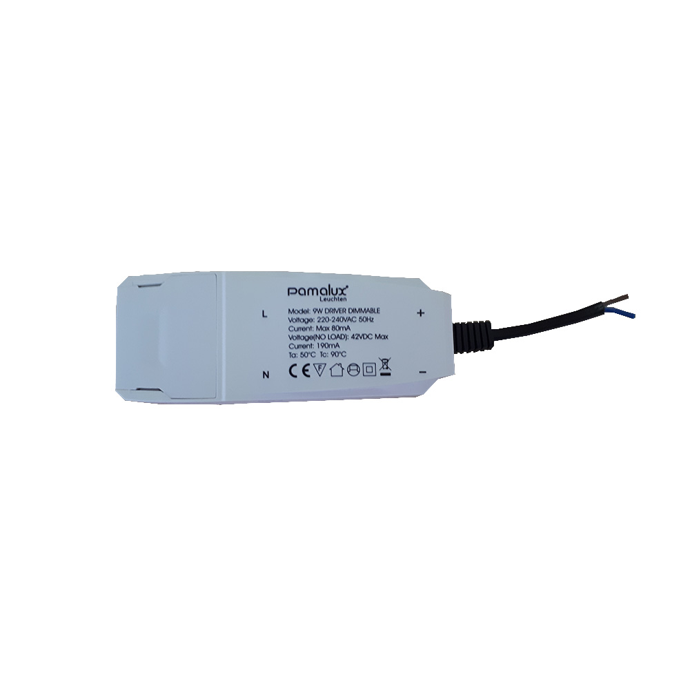 Pamalux Driver 9W max. 42V DC 190mA Output Phasenan-/abschnittsdimmbar