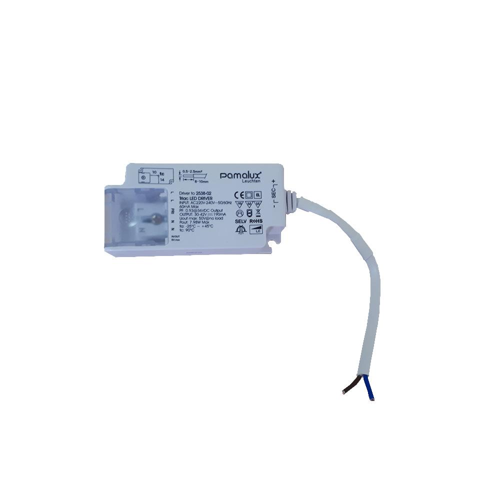 Pamalux LED Driver max. 30V - 42V DC 190mA Output Phasenan-/abschnittsdimmbar