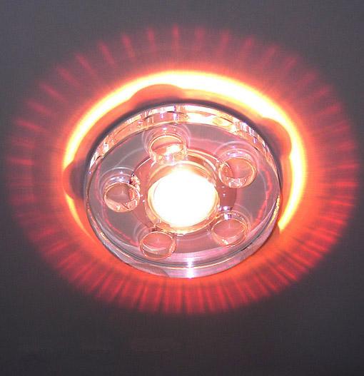 Lampenlux LED-Einbaustrahler Spot Rachelo rund Glas Tranparent 12V MR16 Effekt