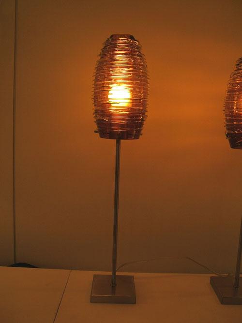 Lampenlux Tischlampe George Nachttischlampe Bettleuchte Deko Glas